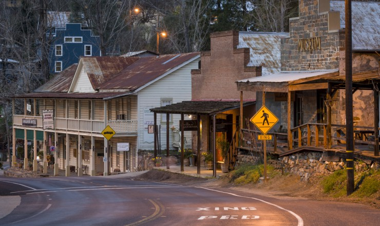 Image of Amador City on a late winter's evening
